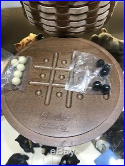 Longaberger Collectors Club Family That Play's Together Game Basket Set