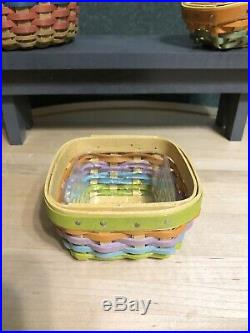Longaberger Collectors Club Farm Miniatures Complete Set With Bench