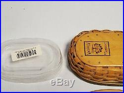 Longaberger Collectors Club Harmony Basket Set Of 5 With Protectors + Inserts