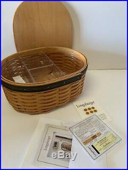 Longaberger Collectors Club Harmony Stacking Baskets, Lids & ProtectorsSet of 5