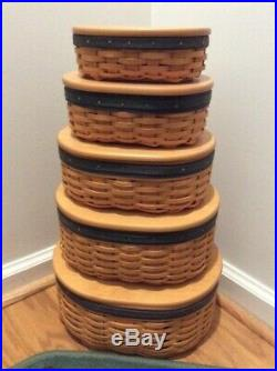 Longaberger Collectors Club Harmony Stacking Baskets (Set of 5)