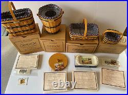 Longaberger Collectors Club JW COMPLETE 12 MINIATURE BASKET SET