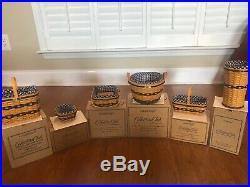 Longaberger Collectors Club JW MINIATURE BASKETS Complete Set of 12