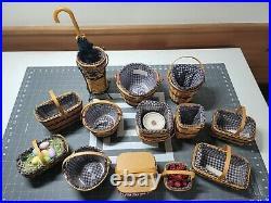 Longaberger Collectors Club JW MINIATURE BASKETS Complete Set of 12 See Desc