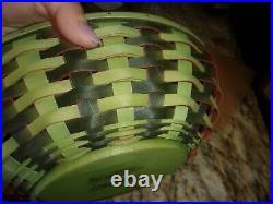 Longaberger Collectors Club Large Watermelon Basket Set Liner Wood LID Protecto