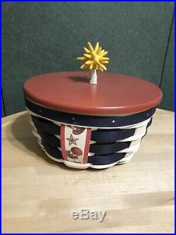 Longaberger Collectors Club Limited Small Firecracker Basket Set New