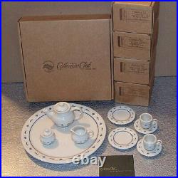 Longaberger Collectors Club MINIATURE TEA SET Mini Made in USA New in Boxes