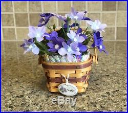 Longaberger Collectors Club May Series Miniature Mini Violet Basket Set