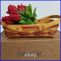 Longaberger Collectors Club May Series Miniature Rose Basket Set12TH IN SERIES