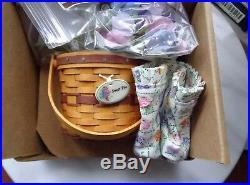 Longaberger Collectors Club Miniature May Series Set Of 10 Basket Combos Lotnew