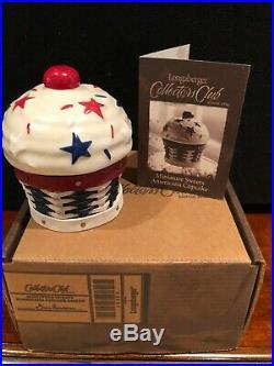 Longaberger Collectors Club Miniature Sweets Americana cupcake basket set