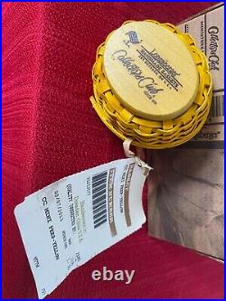 Longaberger Collectors Club Miniature Yellow Peep Basket SetNWT's n Box