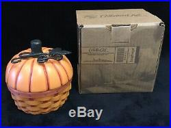 Longaberger Collectors Club Pumpkin Basket Set Rare