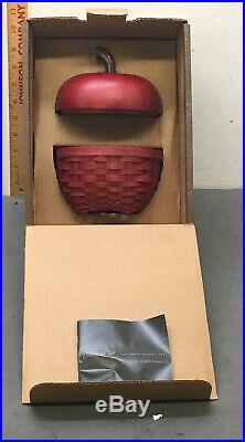 Longaberger Collectors Club Red Apple Basket Set