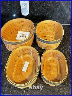 Longaberger Collectors Club Shaker Nesting Harmony Basket Set 1, 2, 3, 4