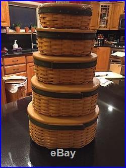 Longaberger Collectors Club Skaker Harmony Basket Set Combo Set Of 5