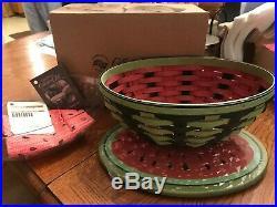 Longaberger Collectors Club Watermelon Basket Set with liner & protector 2010 NIB