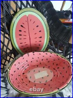 Longaberger Collectors Club Watermelon Basket Setnib