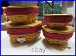 Longaberger Compete Classic 6, 7, 8 and 10 Generation Basket Sets in Paprika