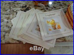 Longaberger Complete May Series Miniature Basket Sets 14 Tie Ons Liners