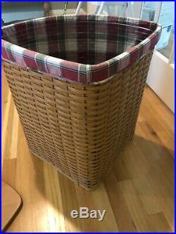 Longaberger Corner Hamper Basket Set in Warm Brown