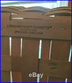 Longaberger Craft Keeper Basket Set EUC Lid still in shrinkwrap