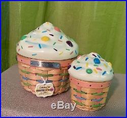 Longaberger Cupcake Basket Set Collector Club
