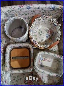 Longaberger Desk Set Basket's, Wrought Iron Stand and Small Desk Baskets