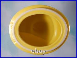Longaberger Easter Yellow Peeps Basket Set Ceramic Topper on Basket