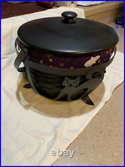 Longaberger Fall Halloween Black Large Cauldron Bskt Complete Set