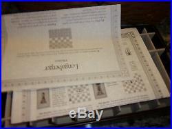 Longaberger Fathers Day Checkerboard Basket Combo Chess Set Checkers Set
