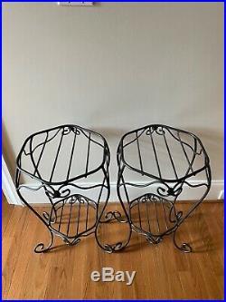 Longaberger Foundry Wrought Iron Generations basket stand, Set of 2