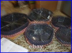 Longaberger Generations 5 Basket Stacking Set Patriotic LID Liners Protectors