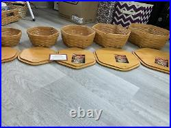 Longaberger Generations Basket Set of 5 Nesting Baskets with Lids And Liners