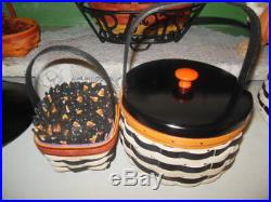 Longaberger Halloween 2013 Wicked Witch Sister Basket Set withLid Plus Sm Basket
