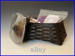 Longaberger Halloween Black Cat Wrought Iron Stand and Basket set