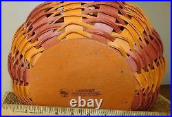 Longaberger Halloween Pumpkin Basket Orange Spice with lid set 2016 New MRH