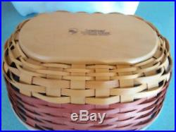 Longaberger Halloween Treats Basket set with Wrought Iron Holder NEW