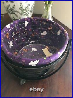 Longaberger Happy Halloween Large Cauldron Basket Set