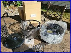 Longaberger Happy Halloween Large Cauldron Basket Set With Wrought Iron Stand NEW