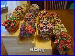 Longaberger Harmony Kingdom 14 Set Grandma Bonnies May Series Baskets w boxes