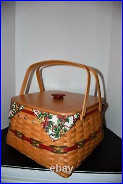 Longaberger Holiday Hostess 12 Days of Christmas Basket Set Excellent Condition