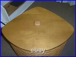 Longaberger Host Only Corner Hamper Set With Basket, Protector & Lid. NEW