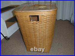 Longaberger Host Only Large Hamper Set With Basket, Protector & Lid. NEW