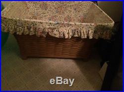 Longaberger Hostess Housekeeper Basket Set Liner & Protector NEW