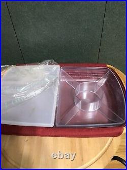 Longaberger Hostess Serve It Up Basket Set New
