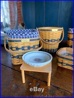 Longaberger JW Collection Miniature Basket Set Of 6