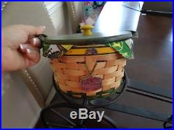 Longaberger John Deere Basket Combo Wrought Iron Tractor Stand -awesome Set