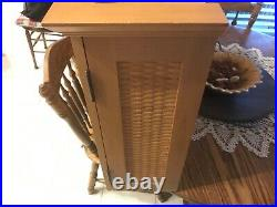 Longaberger Jw CC Miniature Basket Set And Glass Display Cabinet