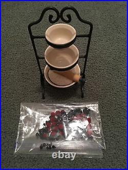 Longaberger Jw Mini 3 Tier Mixing Bowl Set With Accessories